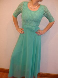 Prom, party, evening dress with 3/4 sleeves. Size 8