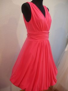 Cheap evening, prom, party dress of pleasant rose color