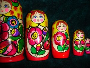 Matryoshka doll, Russian nesting doll, wooden figures