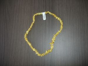 Raw Baltic amber necklace. Lemon color. Length 32cm