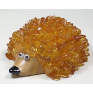 Best souvenir from Latvia - Baltic amber hedgehog