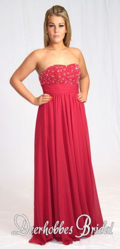 Wonderful evening dress of dark red color. Size 14