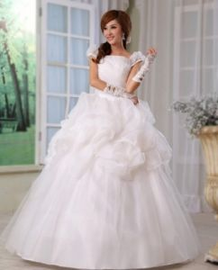 Cheap ivory wedding dress with flashlights