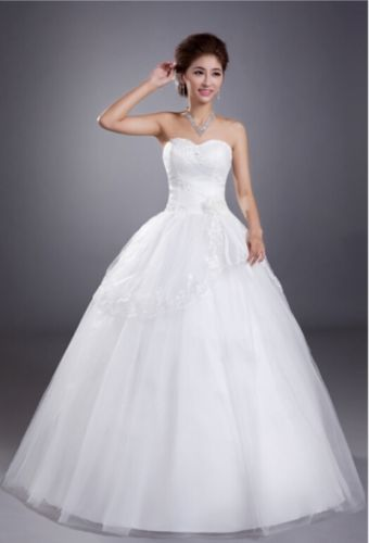 Cheap lace wedding dress, big sizes are available