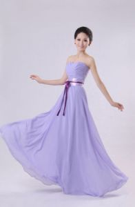 Evening, prom, party dress of light purple color