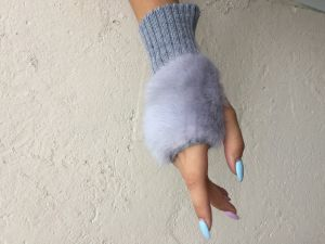 LADY-DRIVER GLOVES RUSSIAN NATURAL FUR MINK FROM RUSSIA