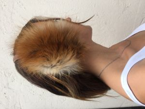 FUR HEADPHONES HAIR BAND RUSSIAN NATURAL REAL FUR FOX FROM RUSSIA