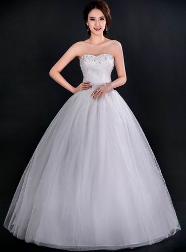 N1 Stunning New A-line Wedding Dress Bridal Gown