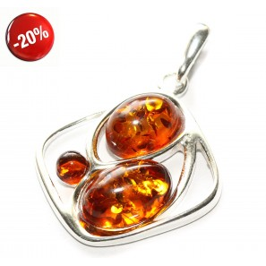 Baltic amber & sterling silver 925 pendant, jewelry