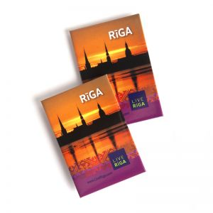 "FRIDGE MAGNET ""RIGA AT DAWN"". Souvenir from Latvia"