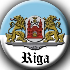 Fridge Magnet - the emblem of the city of Riga. Souvenir from Latvia