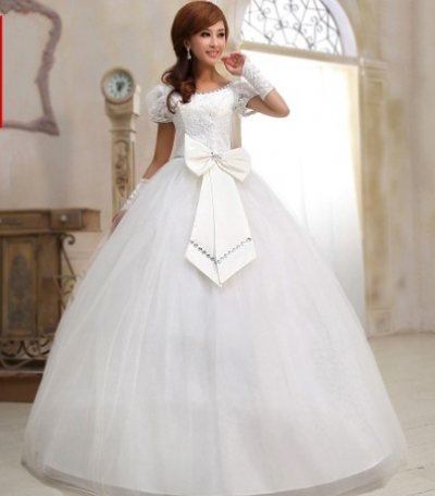 Beautiful closed wedding dress