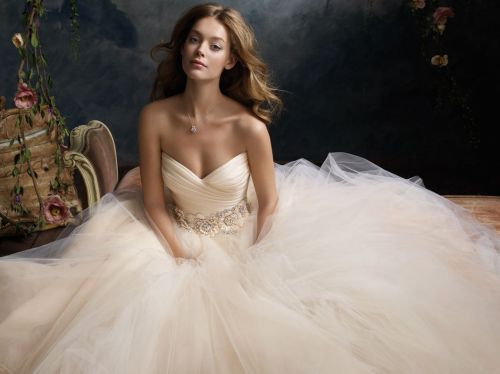 Gorgeous lace wedding dress A-line