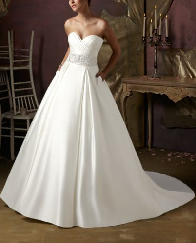Elegant Chiffon Beading A-line Wedding Dress Bridal Gown