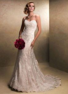 Elegant lace Sexy mermaid white/ivory lace Bridal Gown, Dress