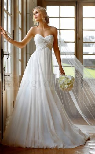 Elegant chiffon wedding dress. Also for pregnant