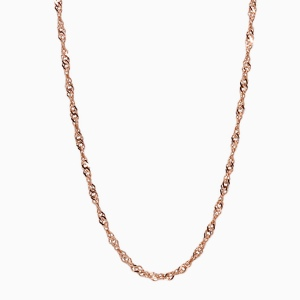 Beautiful twisted gold chain. Red gold. Jewellery from Latvia