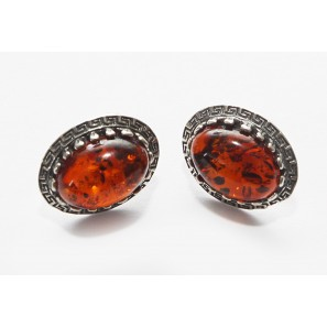 Baltic amber silver 925 studs earrings from Latvia, jewellry